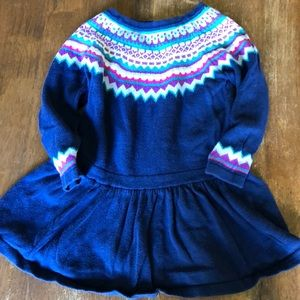 Adorable sweater dress-  18 months